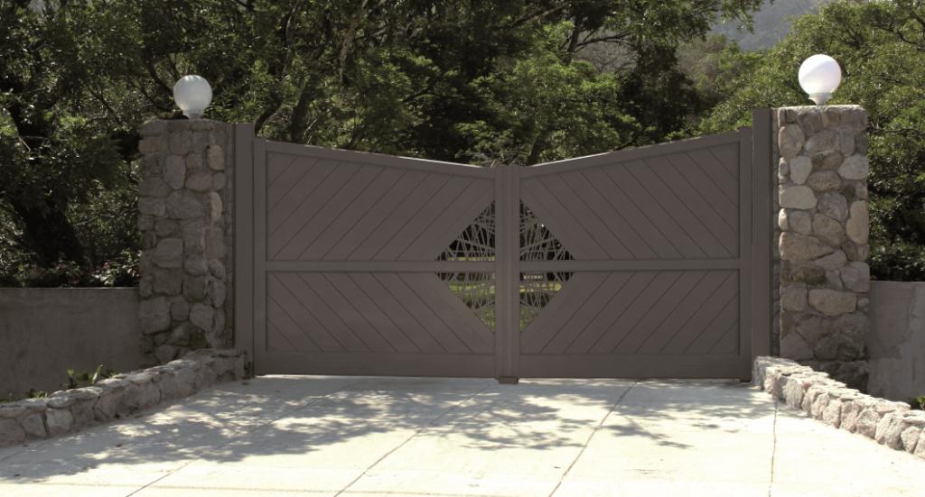 portail-alu-marron